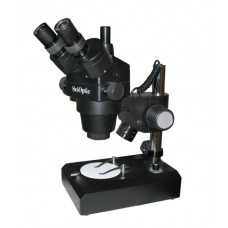 SciOptic 500 Trinocular Zoom Microscope with Built-In Light
